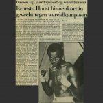 Ernesto Hoost binnenkort in gevecht tegen wereldkampioen