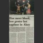 Hoe meer bloed hoe groter het applaus in Ahoy