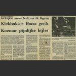 Kickbokser Hoost geeft Koemar pijnlijke bijles